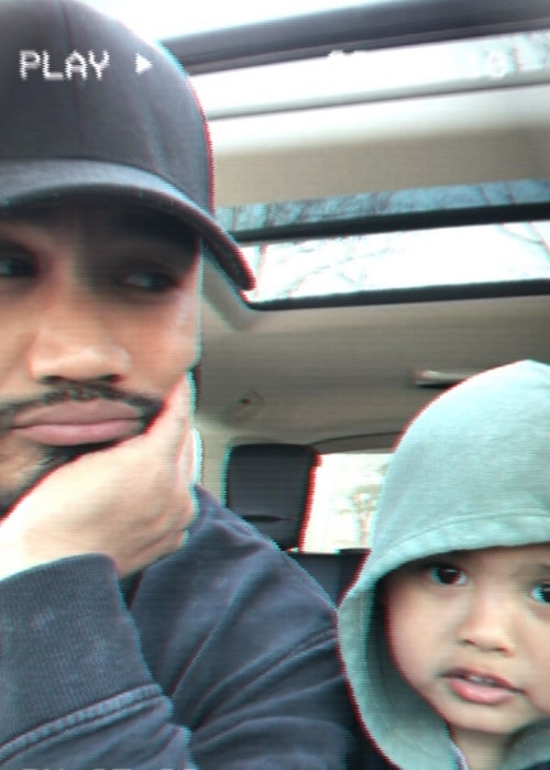 Alex Mallari Jr. as seen in a selfie alongside his son in Toronto, Ontario, Canada in May 2019