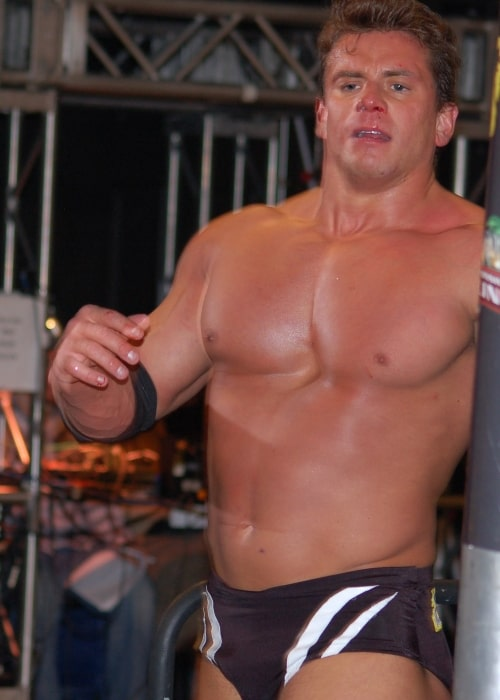 Alex Riley as seen in a picture taken in January 2010 in Tampa, Florida at the FCW arena