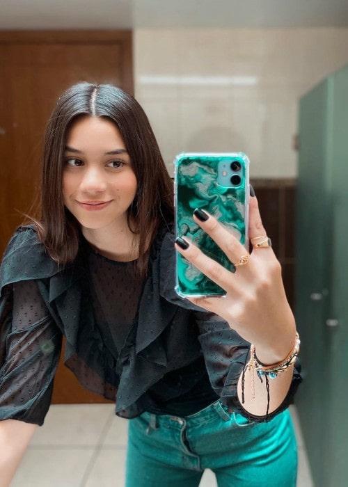 Alexa Rivera Villegas in a selfie in February 2020