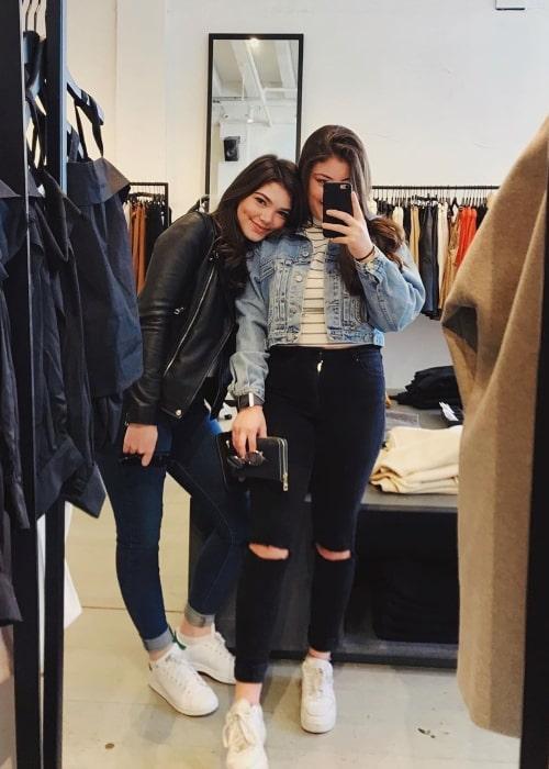 Alisha Newton as seen in a selfie taken with a friend of hers named Lauren in December 2019