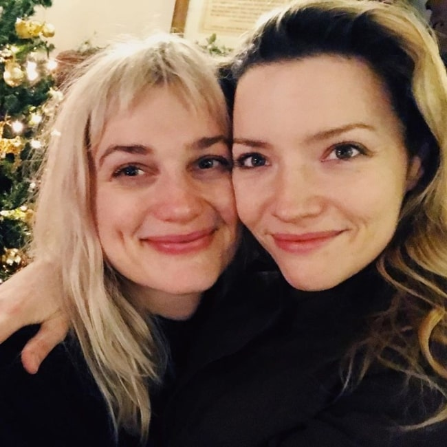 Alison Sudol as seen in a selfie taken with actress Talulah Riley in December 2019