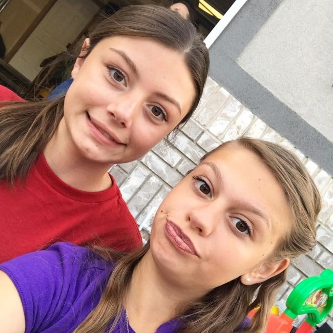 Allie Tannerites as seen in a selfie taken with YouTuber Myli in July 2019