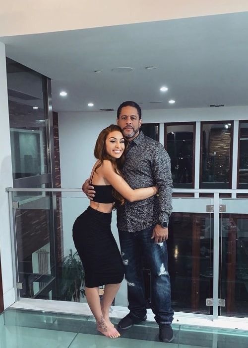 Alycia Sophia Tyre as seen while posing for a picture alongside her father