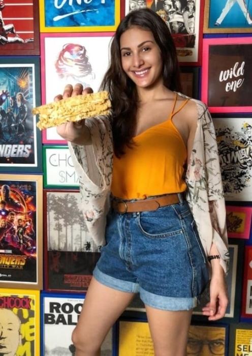 Amyra Dastur having fun sending Sand-wishes on Sandwich Day in November 2019