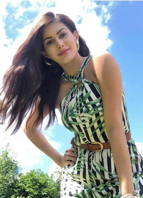 Amyra Dastur posing for a photo while enjoying herself at Hyde Park in July 2019