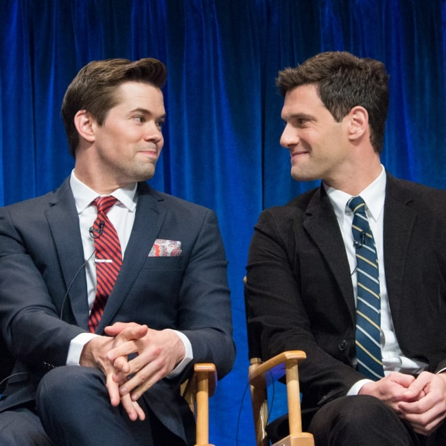 Andrew Rannells and Justin Bartha at the PaleyFest 2013 panel on the TV show The New Normal on March 6