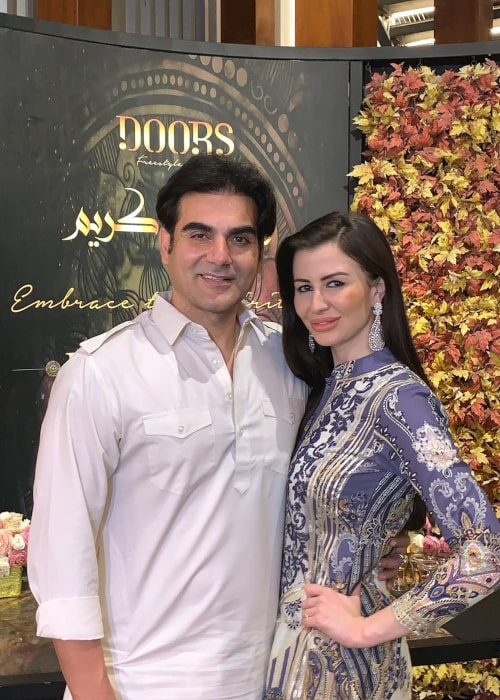 Arbaaz Khan and Georgia Andriani, as seen in May 2019