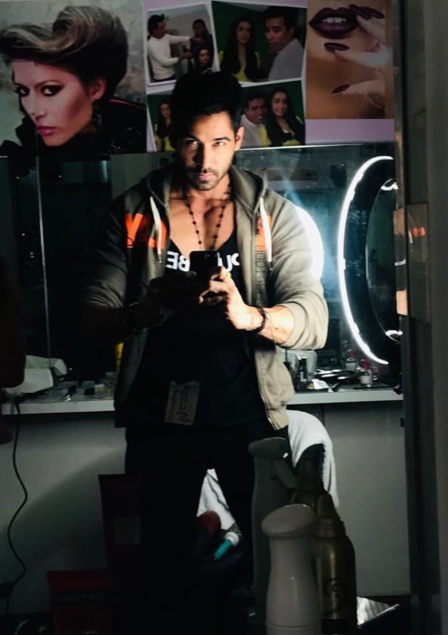 Arhaan Khan flaunting his new look in March 2020