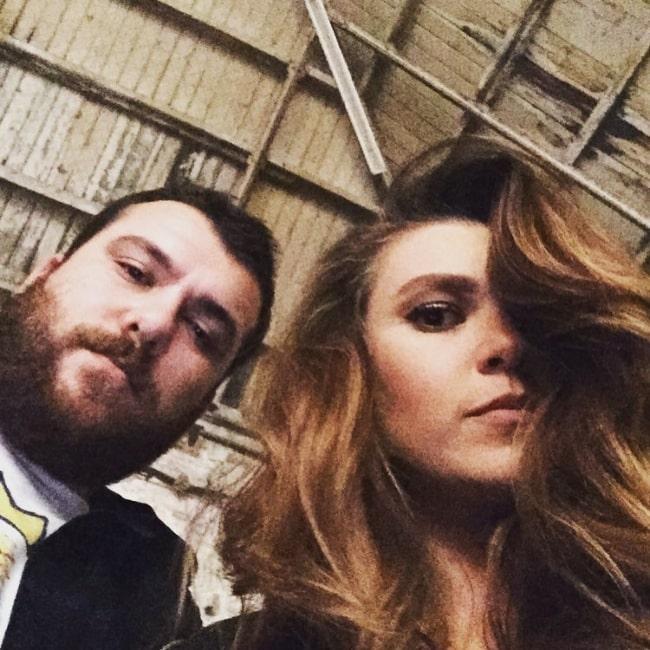 Aslı Enver as seen in a selfie along with Cihan Çalışkantürk in March 2016