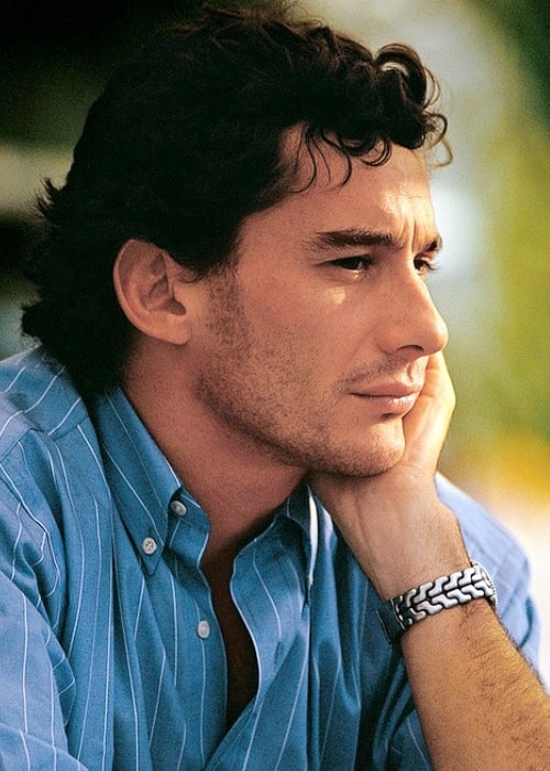 Ayrton Senna in a picture taken in the past
