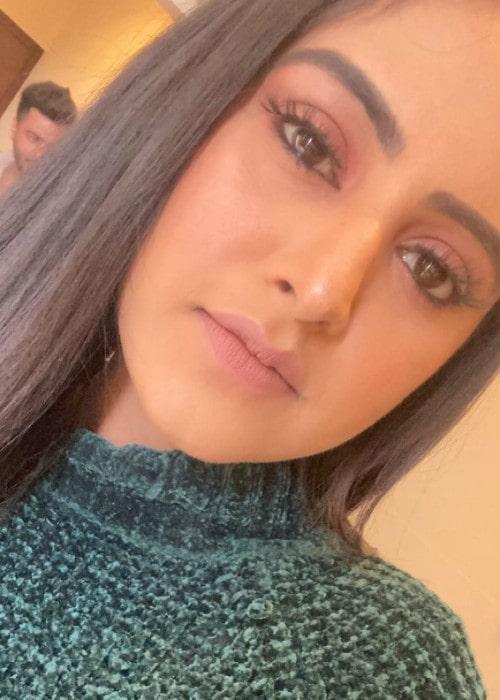 Baani Sandhu in an Instagram selfie as seen in March 2020