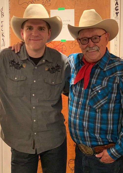 Barry Corbin (Right) and Andy Hedges as seen in January 2020