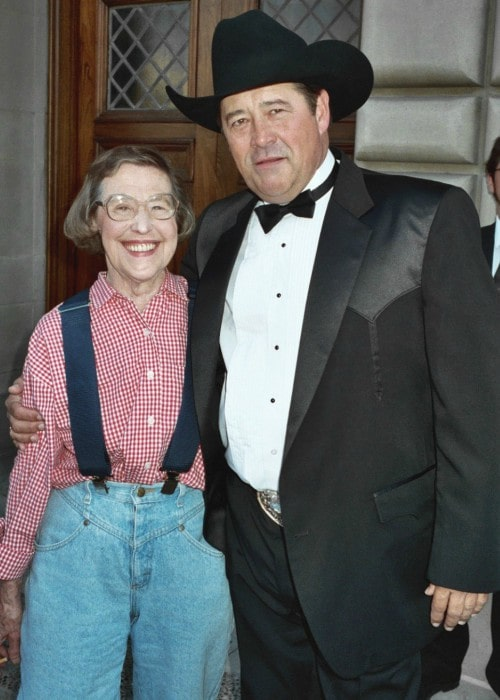 Barry Corbin and Peg Phillips as seen in September 1993
