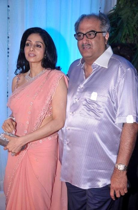 Boney Kapoor and Sridevi at Esha Deol's wedding reception