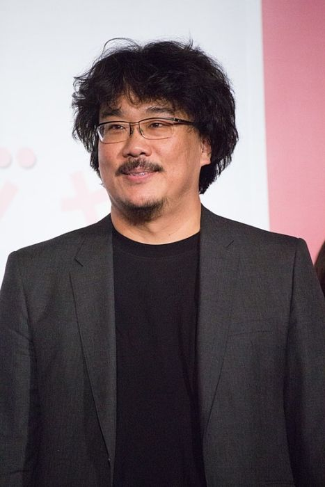 Bong Joon-ho seen at the Japanese premiere of his film Okja in 2017