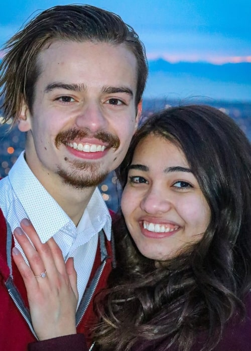 Branson Tannerites as seen in a picture taken with his beau Mara in February 2020