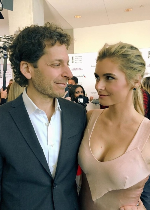 Brianna Brown as seen in a picture taken with her husband Richie Keen in Los Angeles, California in March 2020