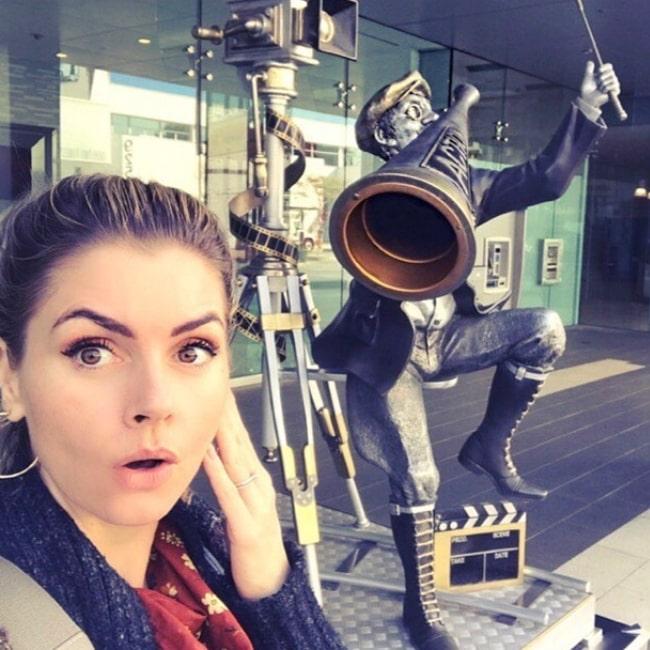 Brianna Brown as seen in a selfie taken in Los Angeles in February 2020