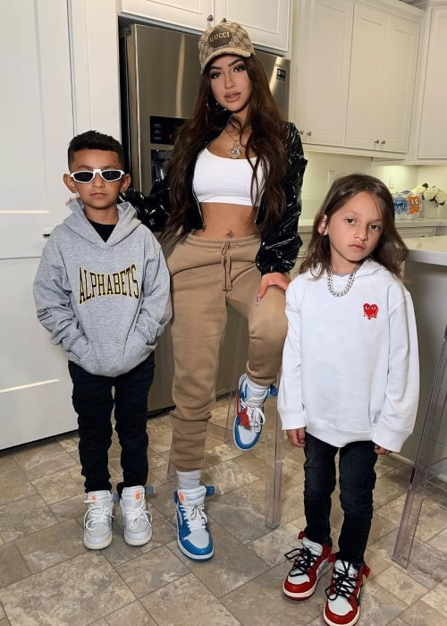 Brittany Murillo as seen in a picture taken with her children in November 2019