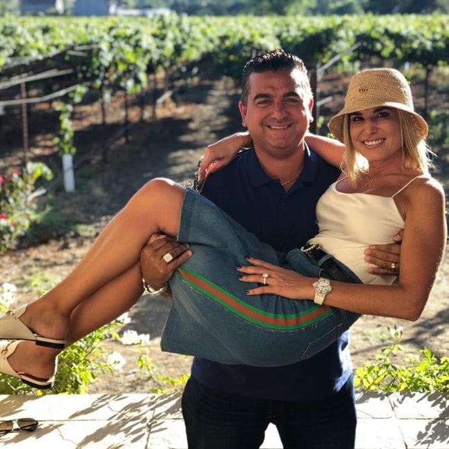 Buddy Valastro as seen in a picture taken with his wife Lisa Valastro on the day of her birthday in March 2020
