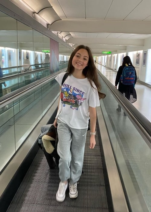 Carmel Laniado as seen in a picture taken at the airport in Los Angeles, California in January 2020