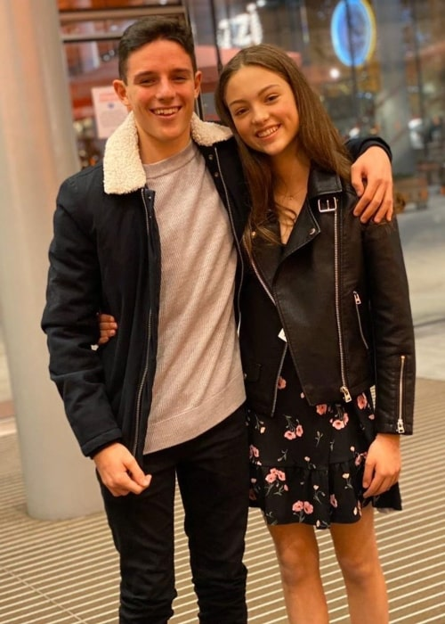 Carmel Laniado as seen in a picture taken with actor Harry Collett in December 2019