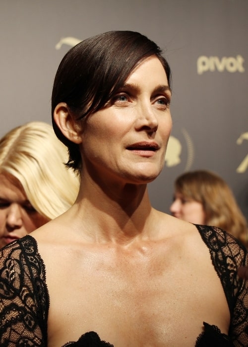 Carrie-Anne Moss as seen during an event in May 2016