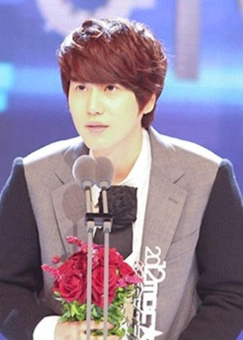 Cho Kyu-hyun as seen at the MBC Entertainment Awards in December 2012