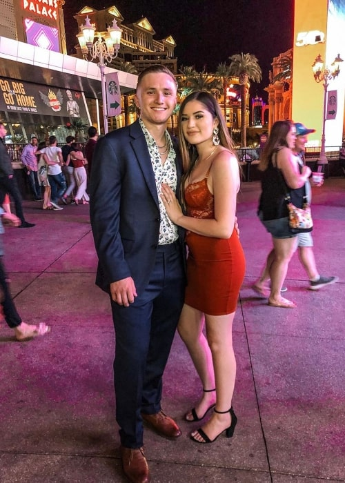 Chris Peña as seen in a picture with his wife Amanda Peña at the Las Vegas Strip in June 2019