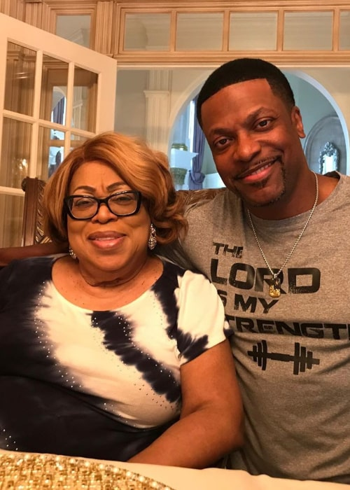 Chris Tucker and his mother, as seen in May 2019