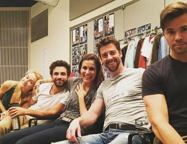 Christian Borle with his friends as seen in August 2017
