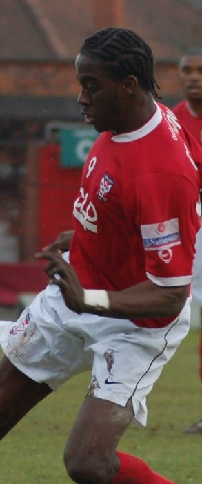 Clayton Donaldson playing for York City against Weymouth at Bootham Crescent, York, North Yorkshire, England on February 17, 2007