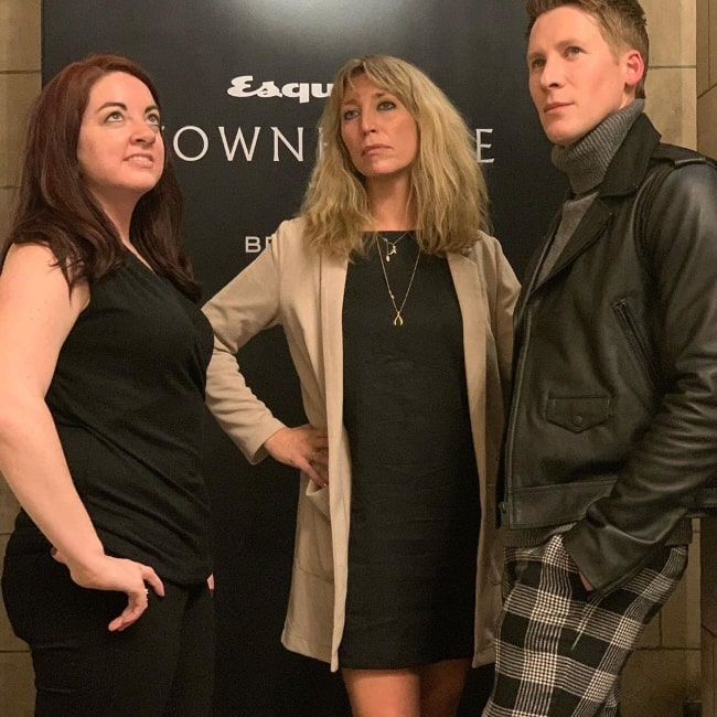 Daisy Haggard (Center) as seen while posing for a picture alongside Lynn Renee Maxcy and Dustin Lance Black in October 2019