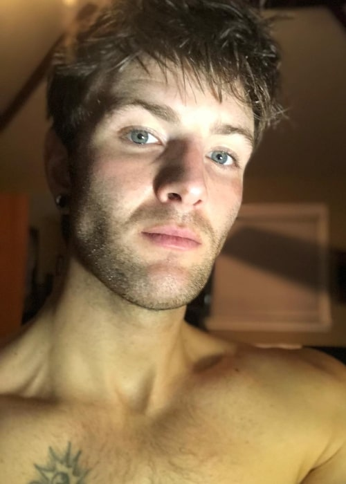 Drew Chadwick as seen while taking a shirtless selfie in September 2018