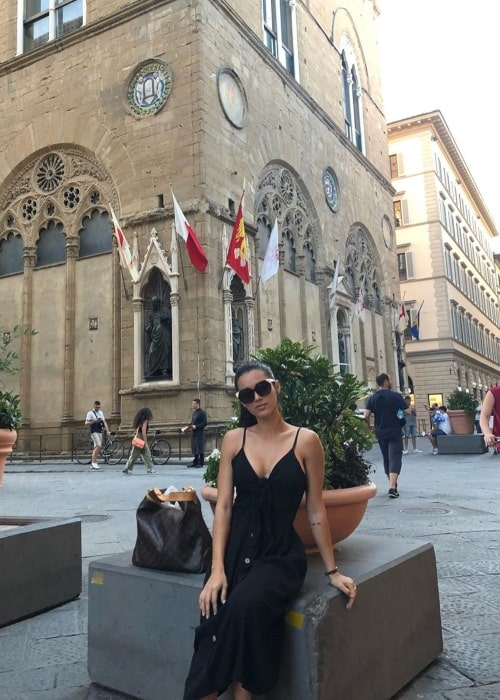 Edilsy Vargas as seen in a picture taken in Firenze, Tuscany, Italy in August 2019