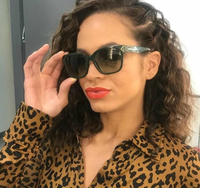 Elle Duncan wearing Leapord July 13 2019
