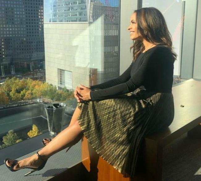 Elle Duncan in the World Trade Center October 22 2019