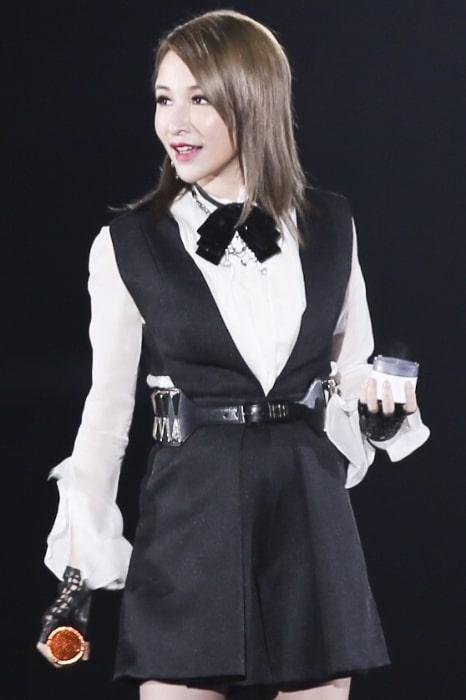 Elva Hsiao pictured at Man Power Concert in Beijing in July 2015