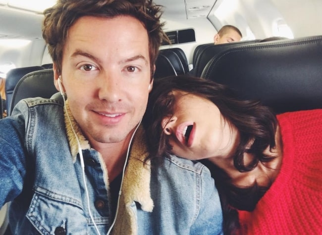 Erik Stocklin as seen while taking a selfie along with Colleen Ballinger in December 2017