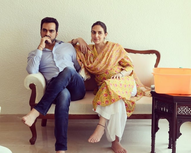 Esha Deol and Bharat Takhtani, as seen in January 2019