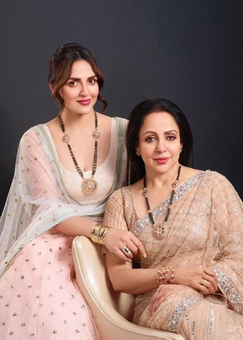 Esha Deol and Hema Malini, as seen in February 2020