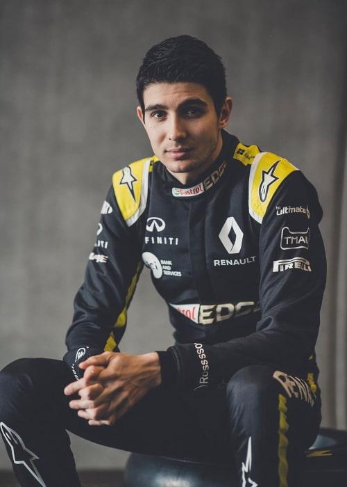 Esteban Ocon as seen in an Instagram Post in February 2020