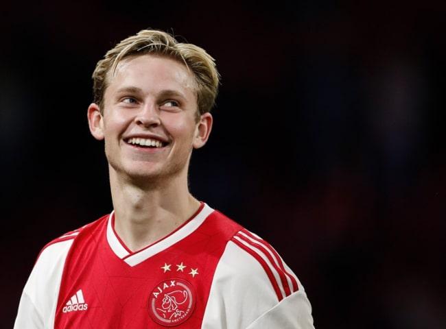 Frenkie de Jong during a match for AFC Ajax in September 2018