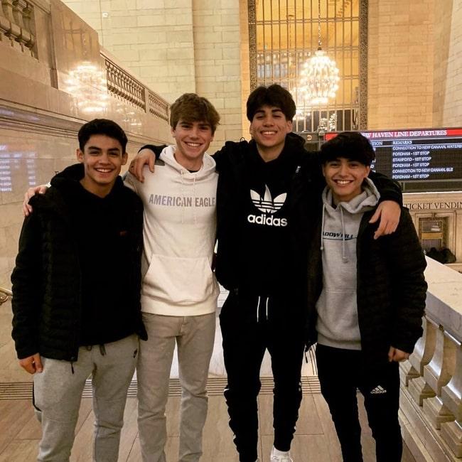 From Left to Right - Alejandro Rosario, Mark Anastasio, Mattia Polibio, and Kairi Cosentino as seen while posing for the camera in January 2020
