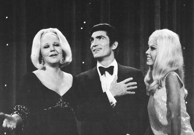 From Left to Right - Peggy Lee, Sergio Franchi, and Nancy Sinatra on 'The Ed Sullivan Show' in 1967