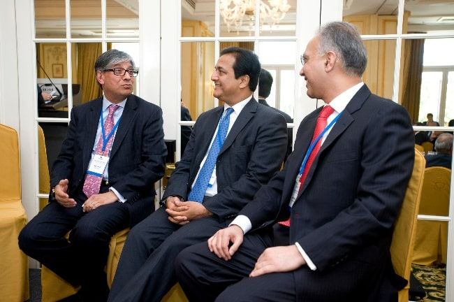 From Left to Right - Rajive Kaul, Rana Kapoor, and Sunil Godhwani at the 2010 Horasis Global India Business Meeting