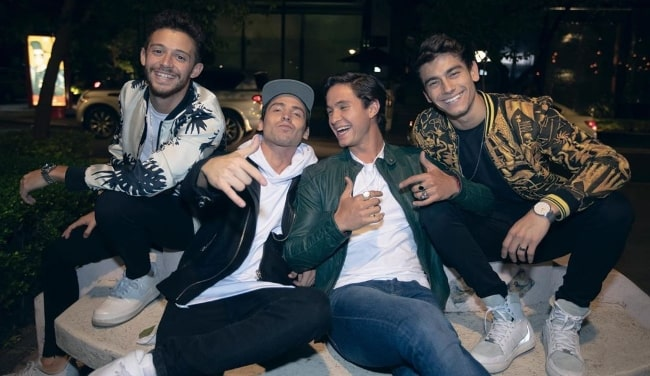 From Left to Right - Ruggero Pasquarelli, Maxi Espindola, Michael Ronda, and Agus Bernasconi as seen while posing for a picture in August 2019