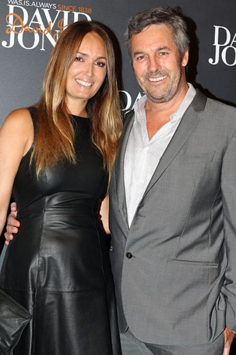 Gail Elliott seen with her husband Joe Coffey at the David Jones AW13 Fashion Launch