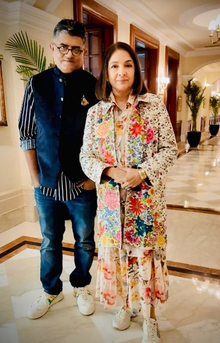 Gajraj Rao as seen while posing for a picture alongside Neena Gupta in February 2020