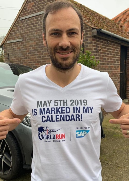Gary Paffett on the sidelines of a charity racing event in April 2019
